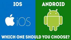 So sánh hệ điều hành Android với iOS